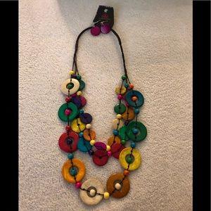 Paparazzi multi color wood necklace